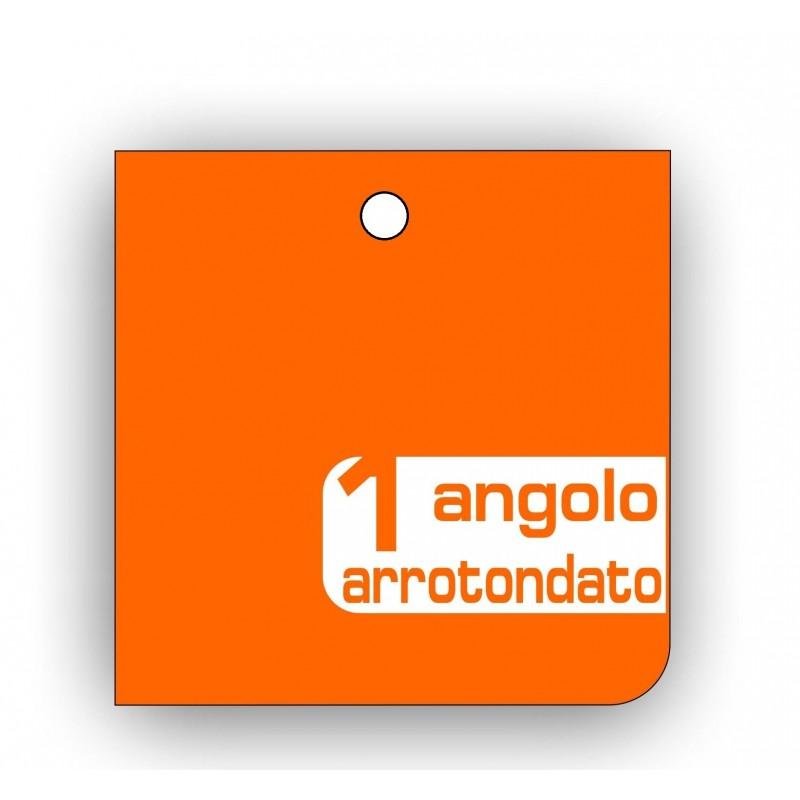 Cartellini forati Quadrato 1 Angolo