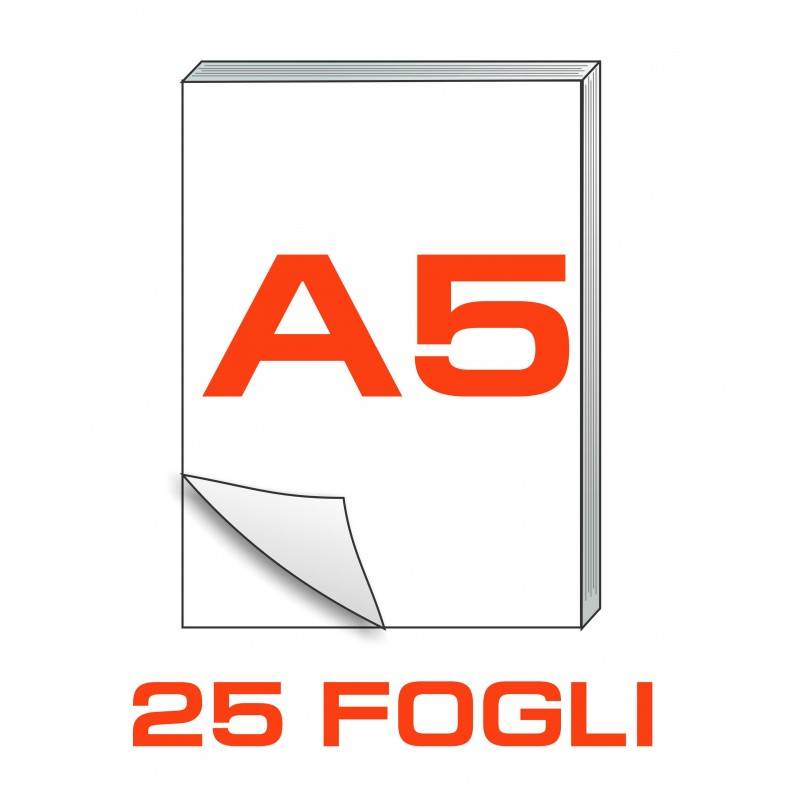 A5 Block notes - 25 fogli