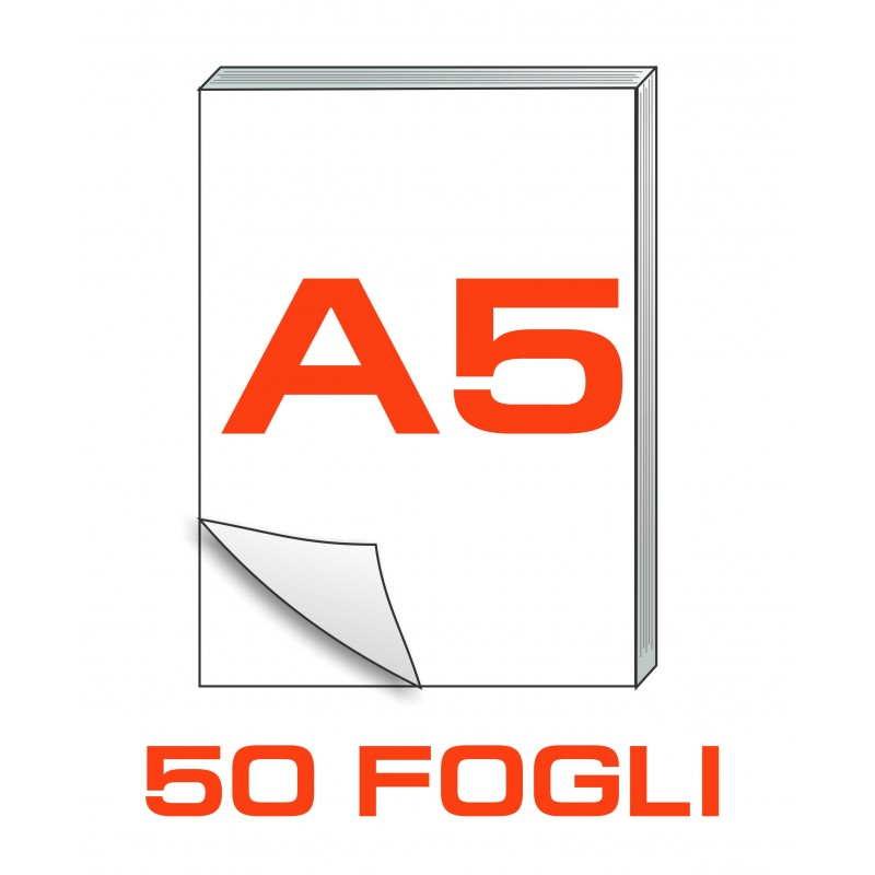 A5 Block notes - 50 fogli