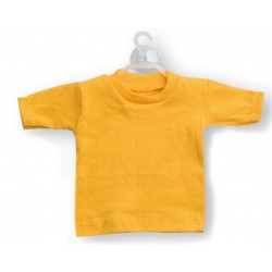 Mini t-shirt Giallo (conf. 10pz)