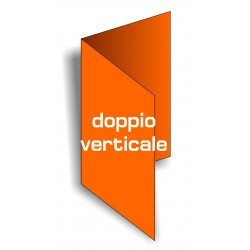 Biglietti da visita Doppi Verticali